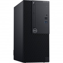 Sistem Desktop PC Dell OptiPlex 3060 MT cu procesor Intel® Core™ i3-8100 3.60 GHz, Coffee Lake, 4GB, Intel® UHD Graphics 630, 256GB SSD, DVD-RW, Ubuntu, Black